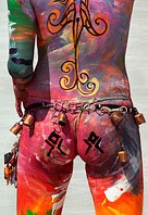Painted people of burning man