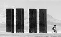 Arthur Clarke monoliths at Burning Man festival
