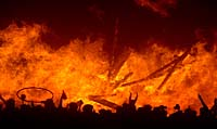 Burning Man Saturday night