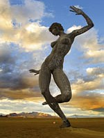 Dancing woman metal art sculpture by Lloyd Taylor