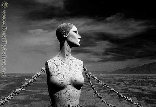 Burning Man Black and White photos