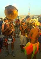 Walking musicians