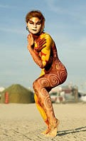 Burning Man body painting