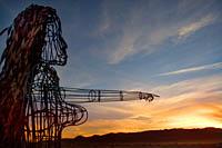 Art made of metal rods