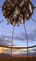 Stainless steel art at Burning Man