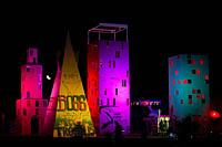 Burning Man city panorama