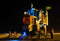 Steampunk car night picture