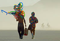 Burning Man couple