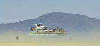 Yacht Christina sailing thru Nevada desert
