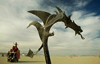 Steel art of dragon