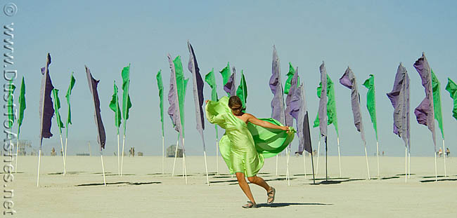 girl dancing with flags dust to ashes