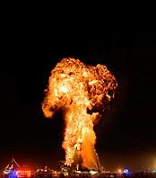 Crude awakening final massive explosion in shape of mushroom
