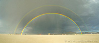 Burning Man rainbow
