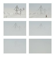 Complete white out at Burning Man