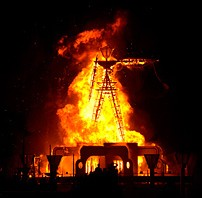 Burning Man inferno