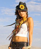 Hot Burning Man woman