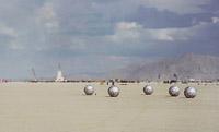 Random balls in desert