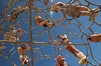 People climbing art installation at Burning Man