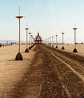 Burning man street