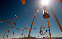 Wind sound art installation