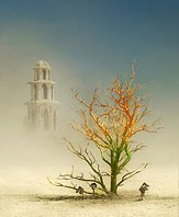 Painted art tree