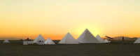 Desert Pyramids in Black Rock City during Burning man festival