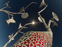 Art installations by Rob Buchholz at Burning Man