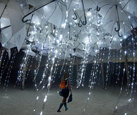 This art installation was built by the artists from London, England