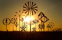 Kinetic windmills art