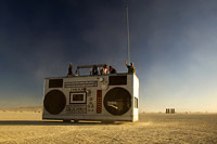 Burningman mutatnt vehicle in shape of radio