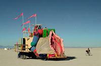 Car in shape of Vagina cruising playa