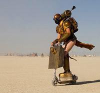 Mobile art of Burning Man people