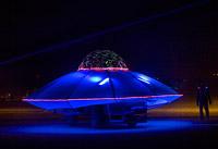 Blue unidentified flying object art