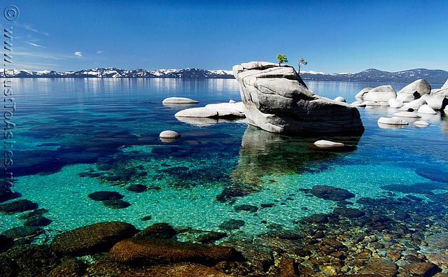 Clear waters of Lake Tahoe near by Incline Village