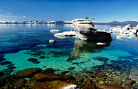 Pristine waters of Lake Tahoe near Sand Harbor beach