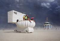 Dark skies over the Burning Man