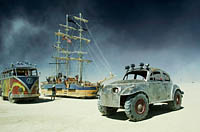 The old vintage volkswagen cars replicas