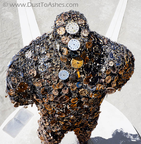 Installation made of watches