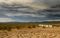 Stone circles formation in Nevada desert