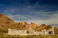 Nevada ghost town remains