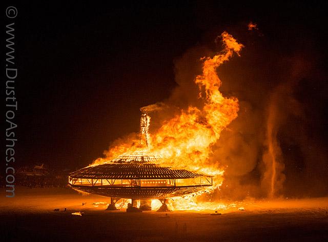UFO in Flames