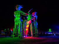 Black lights of Burning Man