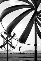 Beautiful abstract shapes of a kinetic arts