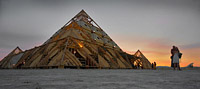 Monumental architecture of Pyramids