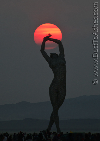 Fireball of the morning Sun rising