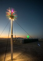 Night view of Burning Man