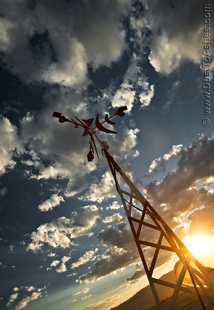 Radio tower in the sky