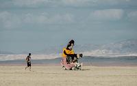 Art car in deep playa
