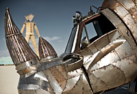 Rhino art car at Burning Man