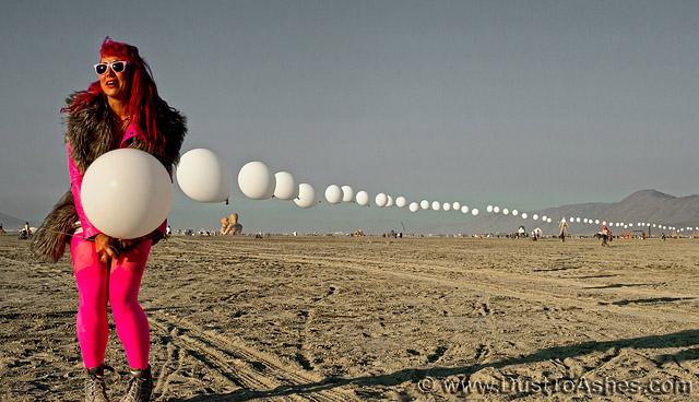 Train of Helium Balloons